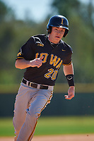 Iowa Hawkeyes designated hitter Austin Guzzo (20) during a game against the Dartmouth Big Green on February 27, 2016 at South Charlotte Regional Park in Punta Gorda, Florida.  Iowa defeated Dartmouth 4-1.  (Mike Janes/Four Seam Images)