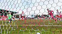 Airdrie's Bryan Prunty celebrates after he scores their first goal from the spot.
