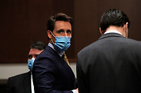 United States Senator Josh Hawley (Republican of Missouri), appears during a US Senate Judiciary Committee business meeting to consider authorization for subpoenas relating to the Crossfire Hurricane investigation, and other matters on Capitol Hill in Washington, Thursday, June 11, 2020.<br /> Credit: Carolyn Kaster / Pool via CNP/AdMedia
