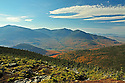 A brilliant autumn day provides the perfect set up for big mountain views on the Carter-Moriah Tr. in New Hampshires White Mountains.