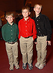From left: Kirk Tucker,6, Logan Tucker, 9, and Grant Tucker,10, at the opening night of The Nutcracker at the Wortham Theater Friday Nov. 27,2009. (Dave Rossman/For the Chronicle)
