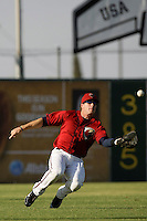 May 31 2009: Jon Gaston of the Lancaster JetHawks during game against the Modesto Nuts at Clear Channel Stadium in Lancaster,CA.  Photo by Larry Goren/Four Seam Images