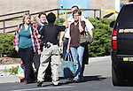 Officers work the scene of a shooting in an IHOP restaurant in Carson City, Nev., on Tuesday, Sept. 6, 2011, where three people were killed and at least six people were injured. (AP Photo/Cathleen Allison)