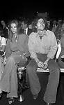 CLAUDIO BAGLIONI CON LA MOGLIE PAOLA MASSARI<br /> SERATA RAFFAELLA CARRA' HOTEL HILTON ROMA 1972