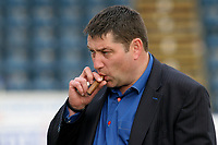 Wycombe Wanderers Owner and London Wasps Owner, Steve Hayes, enjoys a cigar as the Chairboys win promotion to Division One during Wycombe Wanderers vs Notts County, Coca Cola League Division Two Football at Adams Park on 2nd May 2009