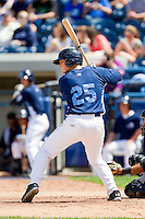Bennett Pickar (25) of the West Michigan Whitecaps at bat against the Quad Cities River Bandits at Fifth Third Ballpark on May 5, 2013 in Comstock Park, Michigan.  The River Bandits defeated the Whitecaps 5-4.  (Brian Westerholt/Four Seam Images)
