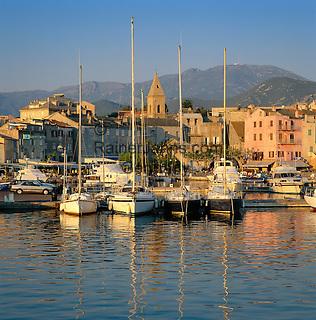 France, Corsica, St. Florent: Port De Plaisance | Frankreich, Korsika, St. Florent: Port De Plaisance