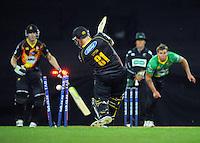 131122 Twenty20 Cricket - Wellington Firebirds v Central Stags