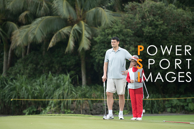 Yao Ming at the World Celebrity Pro-Am 2016 Mission Hills China Golf Tournament on 21 October 2016, in Haikou, China. Photo by Weixiang Lim / Power Sport Images