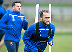 St Johnstone Training…25.10.19<br />Stevie May pictured during training this morning at McDiarmid Park ahead of tomorrows game against Hamilton Accies.<br />Picture by Graeme Hart.<br />Copyright Perthshire Picture Agency<br />Tel: 01738 623350  Mobile: 07990 594431