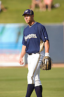 March 13, 2010 - Milwaukee Brewers' Brett Lawrie (#96) during a spring training game against the Colorado Rockies at Maryvale Baseball Park in Maryvale, Arizona.