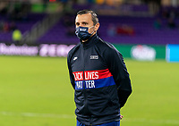 ORLANDO, FL - JANUARY 18: Vlatko Andonovski of the USWNT watches his team during a game between Colombia and USWNT at Exploria Stadium on January 18, 2021 in Orlando, Florida.