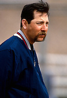 Bryan Harvey of the California Angels during a 1995 season game at Anaheim Stadium in Anaheim,California.(Larry Goren/Four Seam Images)