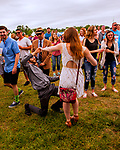 BALTIMORE, MD - MAY 20: Crowd listening to country group High Valley, perform in the infield on Preakness Day at Pimlico Race Course on May 20, 2017 in Baltimore, Maryland.(Photo by Sue Kawczynski/Eclipse Sportswire/Getty Images)