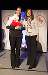 Calgary, AB - June 5 2014 - Robbi Weldon receives her Paralympic ring from Erin Kelly, of Suncor/Petro-Canada, during the Celebration of Excellence Paralympic Ring Reception in Calgary. (Photo: Matthew Murnaghan/Canadian Paralympic Committee)