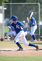 Kansas City Royals catcher Chase Vallot (16) during an Instructional League game against the San Diego Padres on October 2, 2014 at Surprise Stadium Training Complex in Surprise, Arizona.  (Mike Janes/Four Seam Images)