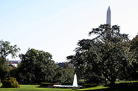 """Lawn at the White House during a  D.C United clinic in support of first lady Michelle Obama's """"Let's Move"""" initiative on the White House lawn, in Washington D.C. on October 7 2010."""