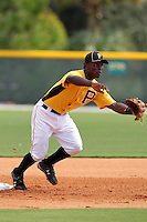 Pittsburgh Pirates second baseman Dilson Herrera #65 during practice before an Instructional League game against the Philadelphia Phillies at Pirate City on October 11, 2011 in Bradenton, Florida.  (Mike Janes/Four Seam Images)