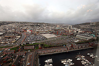 Pictured: general view of Swansea as seen from the Penthouse restaurant<br />