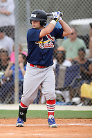 Logan Browning, #10 of Lakeland Christian High School, FL for the Cardinals Scout Team / FTB Chandler during the WWBA World Championship 2013 at the Roger Dean Complex on October 25, 2013 in Jupiter, Florida. (Stacy Jo Grant/Four Seam Images)