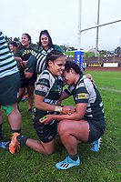 Manurewa players celebrate winning the Auckland premier women's Coleman Shield rugby final between Ponsonby and Manurewa at Western Springs in Auckland, New Zealand on Saturday, 19 June 2021. Photo: Dave Lintott / lintottphoto.co.nz