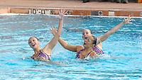 Stanford, CA; Saturday February 11, 2012: Synchronized Swimming, Stanford vs Incarnate Word.<br /> Stanford Trio 2: Alex Bollaidlaw, Liane Lovitt, Kimko Urata.