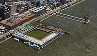 aerial photograph Pier 40, Hudson River Park, Manhattan, New York City