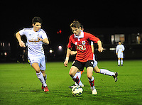 Swansea, wales. <br /> Thursday 9th March 2015..<br /> <br /> Swansea under 21s v Bristol City Under 21s<br /> <br /> Joseph Jones chasing down the ball