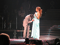 """SMG_Jennifer Lopez_Marc Anthony_Break Up_071811_232.JPG<br /> <br /> MIAMI BEACH, FL - JULY 16: (Us Weekly) Jenny's back on the singles block.  After seven years of marriage, Jennifer Lopez and Marc Anthony have split, their rep tells Us Weekly. """"We have decided to end our marriage. This was a very difficult decision. We have come to an amicable conclusion on all matters,"""" they said in a statement. """"It is a painful time for all involved, and we appreciate the respect of our privacy at this time. The couple are parents to three-year-old twins Max and Emme.  Crooner Anthony, 42, was conspicuously absent at Saturday's star-packed BAFTA Brits to Watch bash in L.A., where wife Lopez, 40, met Prince William and Duchess Kate with mom Guadalupe as her date.<br /> Friends for years, Lopez and Anthony dated briefly in the 1990s. They stepped out again as a couple in early 2004, shortly after Lopez's broken engagement from Ben Affleck, and in the midst of Anthony's divorce from first wife, former Miss Universe Dayanara Torres. They wed at a quiet home wedding in June 2004.<br /> Just last year, they renewed their wedding vows for their sixth anniversary at their Hidden Hills, Calif. estate June 5. """"We realized the bets in Vegas [on whether we'd make it] stopped at five years,"""" Anthony joked to Us at the time.   And as recently as January, singer, actress and American Idol judge Lopez gushed on the Ellen DeGeneres Show about being a parent with Anthony. """"As soon as I had the babies, I thought to myself, 'I want to do this a thousand more times...I love this. This is life.""""<br /> Anthony and first wife Torres share sons Cristin, 10, and Ryan, 7. Lopez (who famously dated Sean Combs in addition to Affleck), had been married twice before: to restauranteur Ojani Noa (they split in 1998) and former backup dancer Cris Judd, to whom she was married from 2001 to 2003.. On July 16, 2011 in Miami Beach, Florida,  (Photo By Storms Media Group)<br />  <br /> People:   Jennifer Lopez_Marc A"""