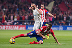 Atletico de Madrid Koke Resurreccion and Real Madrid Karim Benzema during La Liga match between Atletico de Madrid and Real Madrid at Wanda Metropolitano in Madrid, Spain. November 18, 2017. (ALTERPHOTOS/Borja B.Hojas)