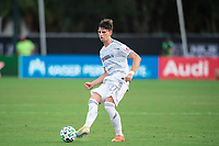 LAKE BUENA VISTA, FL - JULY 31: Tristan Blackmon #27 of LAFC kicks the ball during a game between Orlando City SC and Los Angeles FC at ESPN Wide World of Sports on July 31, 2020 in Lake Buena Vista, Florida.