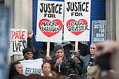 Community leader Stafford Scott, Carole Duggan, Rupert Sylvester, Stephanie Lightfoot-Bennett.  No Justice, No Peace vigil outside Tottenham Police Station in support of the family of Mark Duggan, whose killing by armed police sparked the 2011 riots, and in memory of others who have died during arrest or in poice custody.