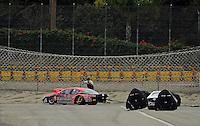 Feb. 12, 2012; Pomona, CA, USA; NHRA pro stock driver V. Gaines during the Winternationals at Auto Club Raceway at Pomona. Mandatory Credit: Mark J. Rebilas-