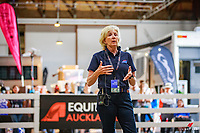 DEMONSTRATION: AUS-Rozzie Ryan: Preparation for flying changes and pirouettes. 2017 NZL-Equitana Auckland. ASB Showgrounds. Friday 24 November. Copyright Photo: Libby Law Photography