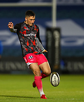 2nd October 2020; RDS Arena, Dublin, Leinster, Ireland; Guinness Pro 14 Rugby, Leinster versus Dragons; Sam Davies (Dragons) warms up before the match