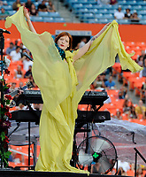 SMG_Florence Welch_U2 360 Tour_062911_01.JPG<br /> <br /> MIAMI, FL - JUNE 29:  Florence Welch of Florence And The Machine opens for U2 at Sun Life Stadium. Florence and the Machine is the recording name of English musician Florence Welch and a collaboration of other artists who provide backing music for her voice.  on June 29, 2011 in Miami Gardens, Florida.  (Photo By Storms Media Group)<br />  <br /> People:   Florence Welch<br /> <br /> Must call if interested<br /> Michael Storms<br /> Storms Media Group Inc.<br /> 305-632-3400 - Cell<br /> 305-513-5783 - Fax<br /> MikeStorm@aol.com