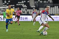 2nd July 2021; Nilton Santos Stadium, Rio de Janeiro, Brazil; Copa America, Brazil versus Chile; Eduardo Vargas of Chile breaks away from Lodi dos Santos of Brazil