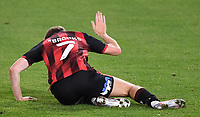 15th September 2020; Vitality Stadium, Bournemouth, Dorset, England; English Football League Cup, Carabao Cup Football, Bournemouth Athletic versus Crystal Palace; David Brooks of Bournemouth slaps the pitch as he squanders a chance