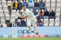 Trent Boult, New Zealand follows through during India vs New Zealand, ICC World Test Championship Final Cricket at The Hampshire Bowl on 20th June 2021