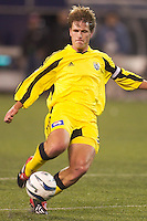 Mike Clark of the Crew during a game against the MetroStars. The Columbus Crew defeated the NY/NJ MetroStars 1-0 on 4/12/03 at Giant's Stadium, NJ.