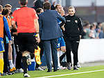 Montrose v St Johnstone….16.07.19      Links Park     Betfred Cup       <br />Stewart Petrie and Tommy Wright shake hands at full time<br />Picture by Graeme Hart. <br />Copyright Perthshire Picture Agency<br />Tel: 01738 623350  Mobile: 07990 594431