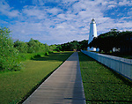 Cape Hatteras National Seashore, NC:  Ocracoke Island Lighthouse (1823) located on Ocracoke Island