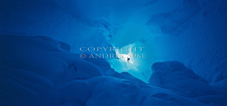 Imax Crevasse. Ross Island. Antarctica.