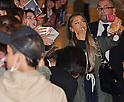Ariana Grande arrives at Tokyo International Airport