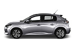 Car driver side profile view of a 2020 Peugeot 208 Allure 5 Door Hatchback