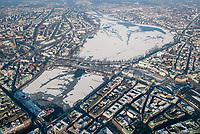 Alster im Winter: EUROPA, DEUTSCHLAND, HAMBURG, (EUROPE, GERMANY), 28.01.2006: Alster im Winter