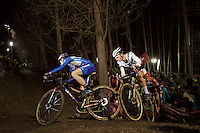 Lars Van der Haar (NLD/Giant-Alpecin) leading the way with world champion Mathieu Van der Poel (NLD/BKCP-Corendon) in tow<br /> <br /> Superprestige Diegem 2015