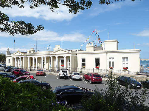 façade which the 1838-founded Royal St George YC presents to the town of Dun Laoghaire…