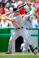 4 July 2009: Atlanta Braves' infielder Brooks Conrad in action against the Washington Nationals at Nationals Park in Washington, DC. The Nationals defeated the Braves 5-3 to take the second game of the 3-game weekend series. Mandatory Credit: Ed Wolfstein Photo