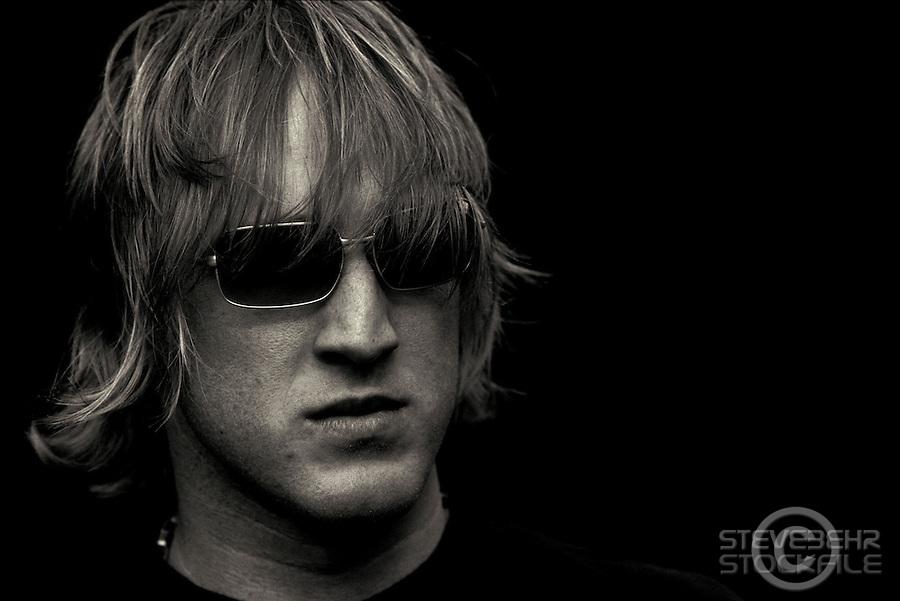 Steve Peat B&W portrait.pic copyright Steve Behr / Stockfile